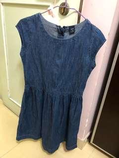Gap女童牛仔連身裙XL碼
