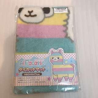 日本景品 toreba 彩虹羊駝地毯/腳踏墊  玄關地毯裝飾 可愛草泥馬