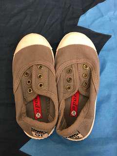 休闲鞋 童鞋 24碼 16cm 灰色