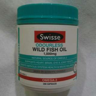 Swisse Odourless Wild Fish Oil (1000mg) 200 Capsules