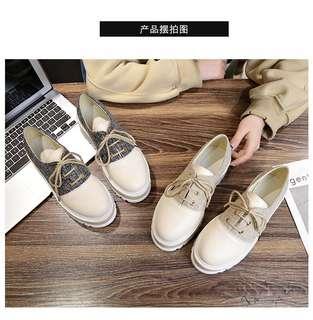 🚚 新款厚底繫帶休閒鞋 35-40 (共2色)