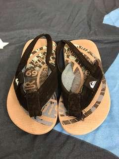 Quiksilver kids sandals flip flop 拖鞋 16 cm