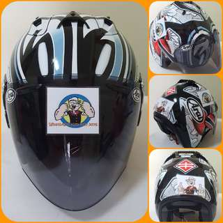 3006*** TSR SHINYA NAKANO CONVERT ARAI v TINTED Visor Helmet For Sale 😁😁Thanks To All My Buyer Support 🐇🐇 Yamaha, Honda, Suzuki