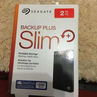 BNIB Seagate Backup Plus Slim 2TB