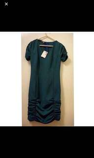 Love moschino deep blue green one piece dress 藍綠色 連身裙 返工裙