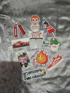 Set of 10 Supreme Stickers