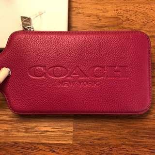 Coach Wristlet, Fuchsia Pink, Brand New #july50