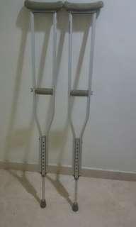 Used walking crutches