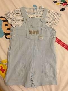 Mini car 工人褲set