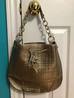 Authentic Burberry Metallic Hobo