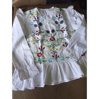 Babydoll embroidery Zara