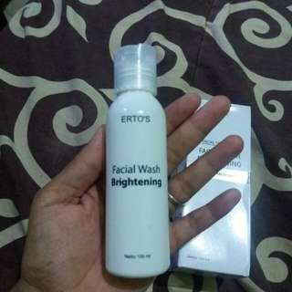 ertos facialwash asli