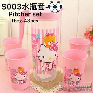 5 in 1 hello kitty pitcher set