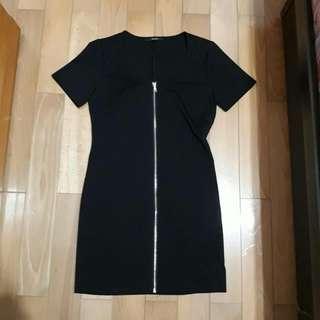 🚚 黑色修身外套(可當洋裝)