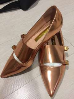 AUTHENTIC Rupert Sanderson Isolde flats in Rose gold