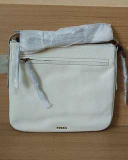 Fossil Jenna Cross Body Coconut Large NEW with tag