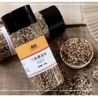 黎麦白红黑三色藜麦米(400g x 2樽)