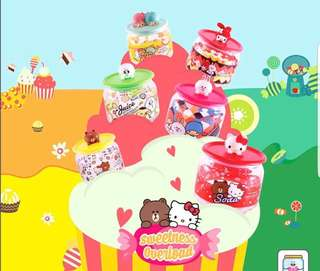7-Eleven Line Friends Sanrio Glass Container Collection