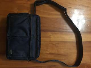 porter shoulder bag (denim色牛仔布) 95新 少用 購自日本