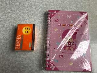全新 Monchhichi A5 notebook 筆記簿