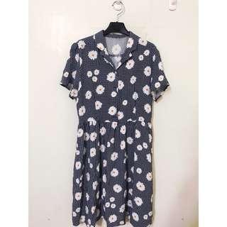 🚚 earth music 日本帶回 原價3160 ML都可以唷 超級顯瘦的棉質洋裝 日式浪漫💕