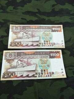 Ship Series $100 notes 2pc x120=$240