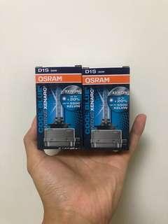 2x Osram D1S 35w cool blue xenon bulb 5500k