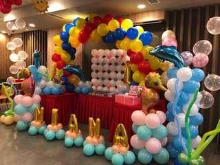 Under The Sea Balloon Decors