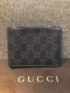 Authentic Gucci Canvas Bifold Wallet