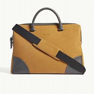 TED BAKER Nubuck leather document bag
