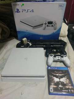 PS4 Slim 500gb with warranty and games
