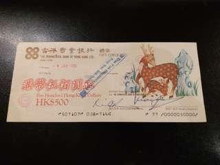 香港商業銀行 - 禮券 / 人情 1986年