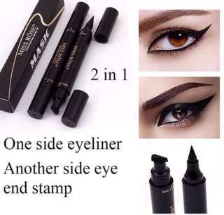 🚚 💕Miss Rose Waterproof Magic Eyeliner & Seal Winged Duo Eyeliner Stencil Stamp 2in1💕