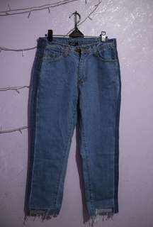 Two tones Boyfriend Jeans