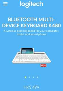 NEW Logitech WIRELESS Multi-device Keyboard K480