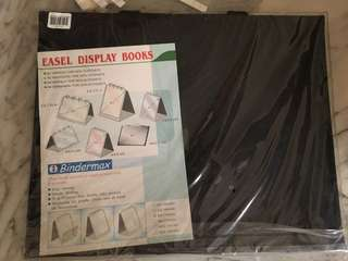 A3 easel display book art folio and A3 plastic holders