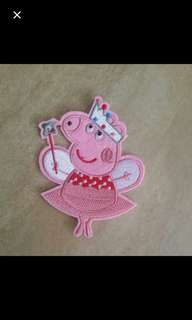 Iron on patch - Peppa pig
