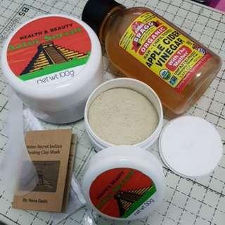 Aztec Secret Indian Healing Clay Mask & Bragg's Apple Cider Vinegar