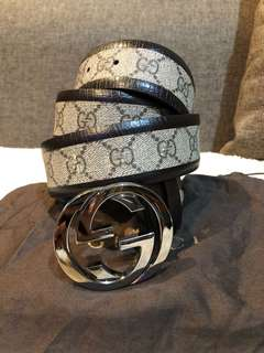 Authentic Gucci Belt With Dustbag Size 38
