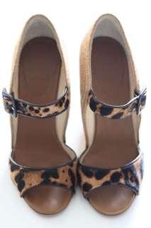 Christian Louboutin Leopard Sandal Wedges