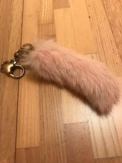 Juicy couture pink fur keychain