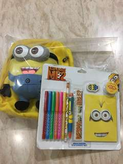 Back pack + stationery Despicable me 2 original