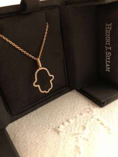 法國高級珠寶品牌 rosegold Necklace diamond charm