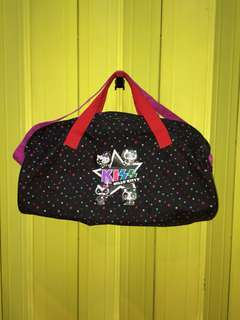 Kiss Band X Hello Kitty Duffle Bag