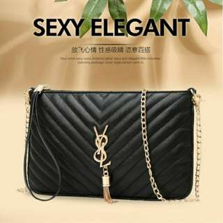 Y8L Sling Bag Dinner Bag Insipred By YSL PU LEATHER