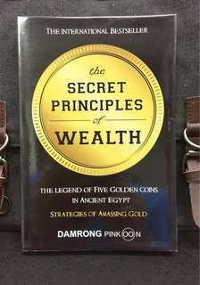 《New Book Condition + Strategies For Amassing Wealth》Damrong Pinkoon - THE SECRET PRINCIPLES OF WEALTH : The Legend Of Five Golden Coins In Ancient Egypt