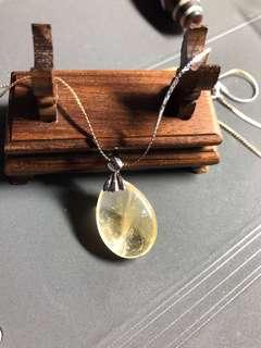 雙色頸鏈,頸鏈,水晶,黃水晶,包金1.5mic