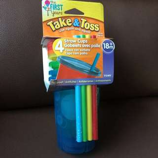 Take & Toss Straw cups set