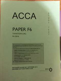 ACCA F6 Taxation (UK) study text