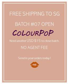 FREE SHIPPING - COLOURPOP